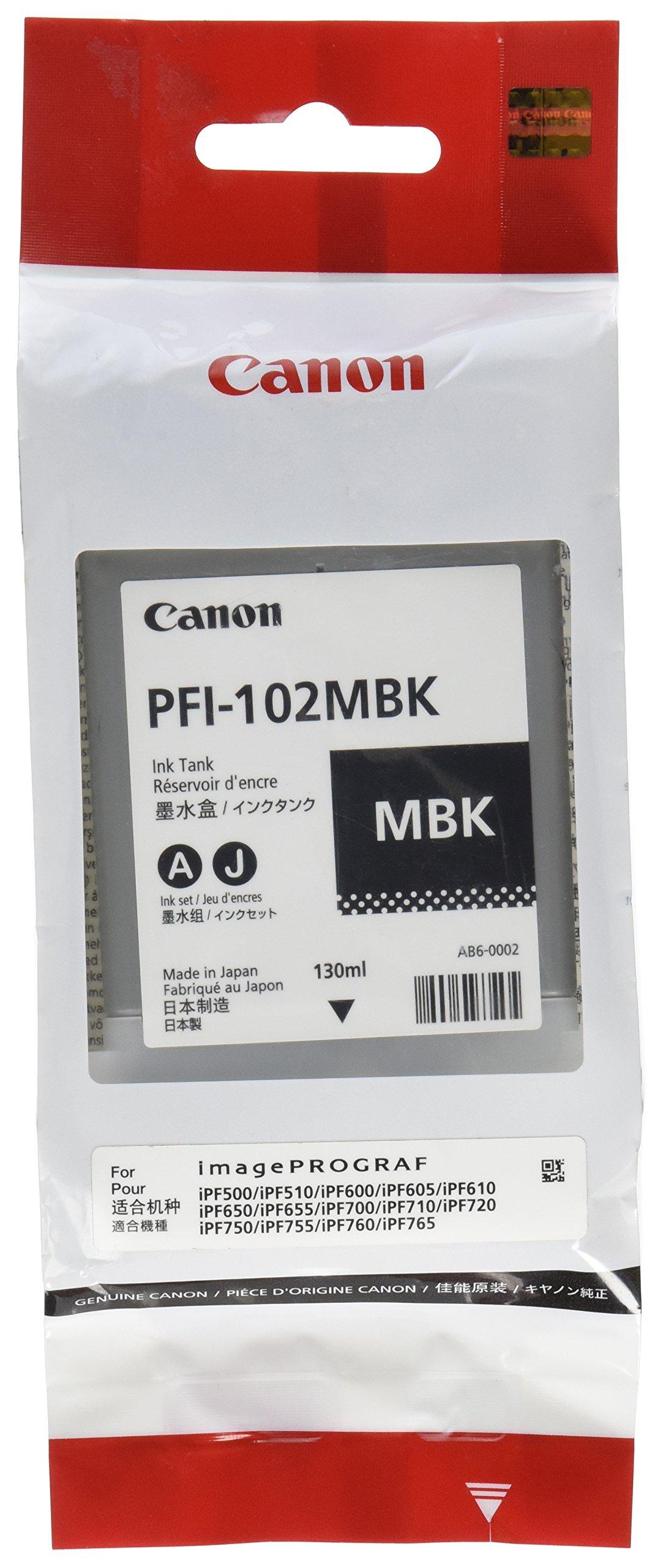 Ipf PFI-102MBK Matte Black Ink Tank 130ML for 500 600 700 Models
