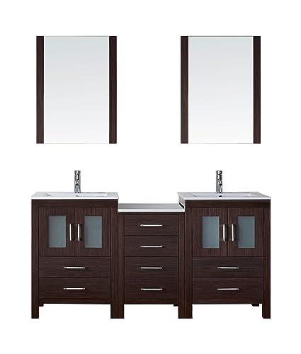 Virtu USA KD 70066 C ES Modern 66 Inch Double Sink Bathroom