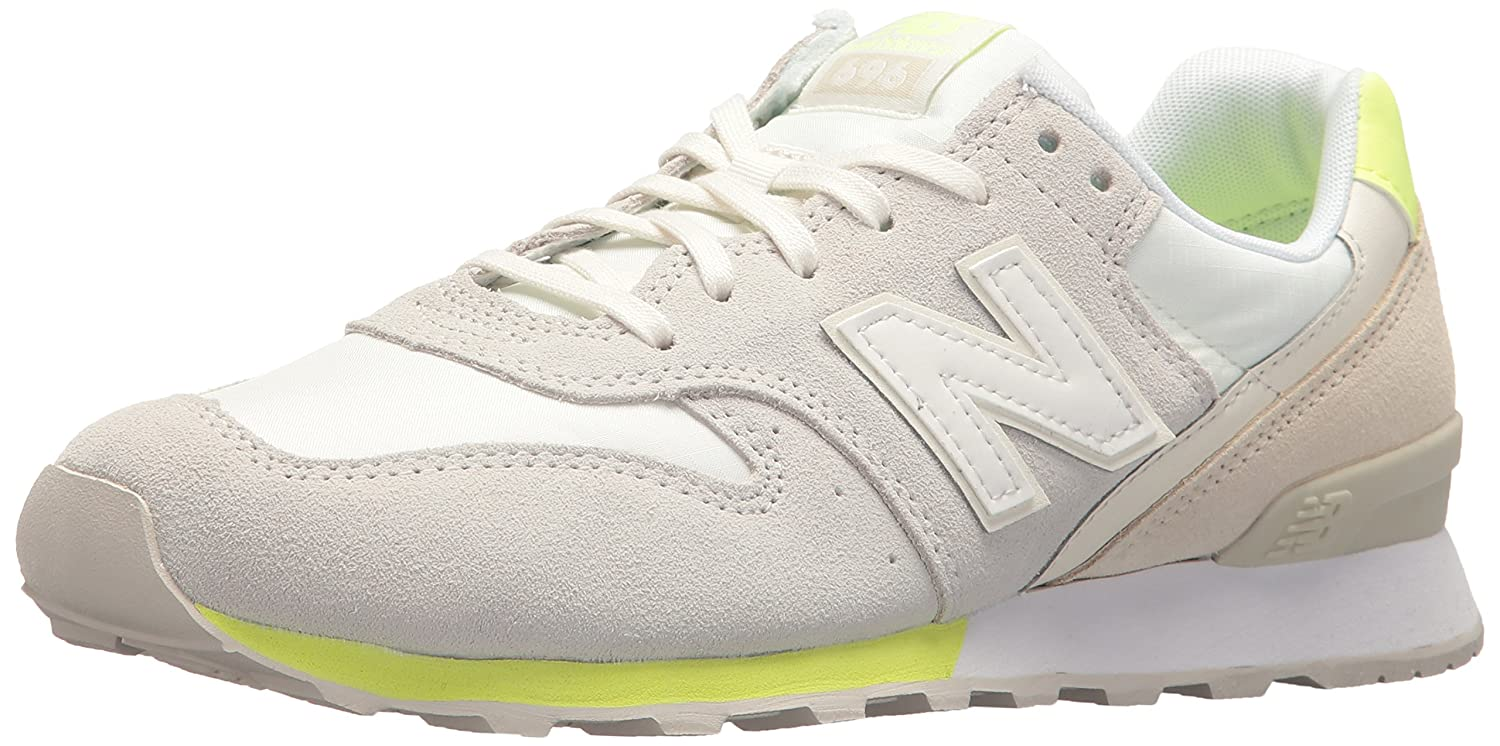 New Balance Women's 696 v1 Sneaker B06XX8XV9P 12 B(M) US|Sea Salt/Solar Yellow