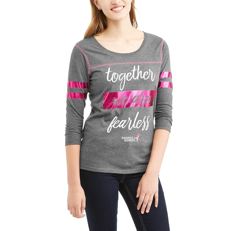 51a3db09 Susan G. Komen Women's Long Sleeve Varsity Graphic T-Shirt at Amazon  Women's Clothing store: