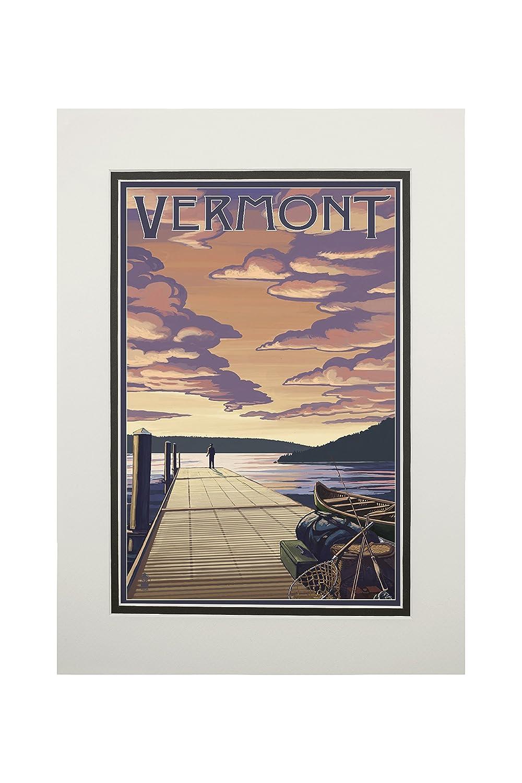 驚きの安さ Vermont – Tote x ドックシーンと湖 Canvas Tote Matted Bag LANT-69244-TT B06XZFNVGL 11 x 14 Matted Art Print 11 x 14 Matted Art Print, TAKEYAオンラインショップ:b08d2cb1 --- arianechie.dominiotemporario.com