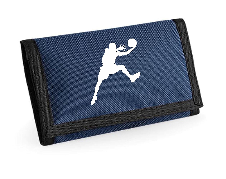 Tracés de Basketball Unisexe garçons Filles Ripper Portefeuille Porte-Monnaie Pochette (Bleu Marine)