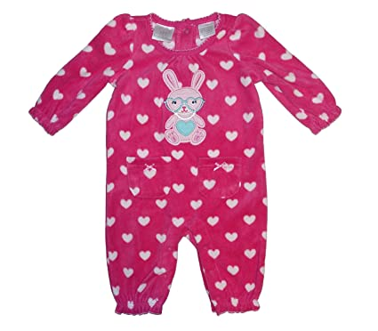 3dfd53f07 Koala Kids Baby Girls Embroidered Fleece Easter Bunny Heart Dress Up  Bodysuit Outfit (3 Months