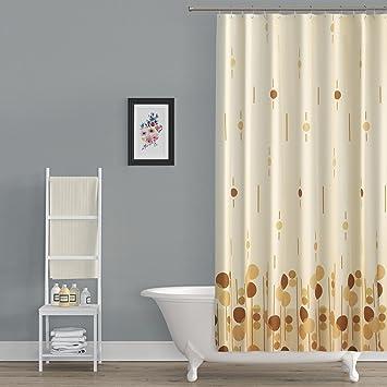 Textil DUSCHVORHANG 120x200cm EINTEILIG U0026quot;Farbe Hell U0026 Dunkel Braun,  Beigeu0026quot; ...