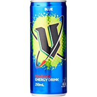 V Energy Blue Guarana Energy Drink Can, 24 x 250 Milliliters
