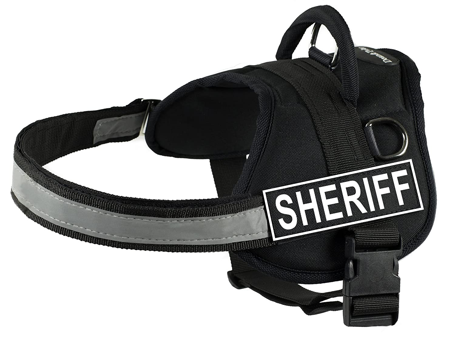 Dean & Tyler Works Harness, Sheriff, X-Small-Fits Girth, 53cm to 66cm, Black White