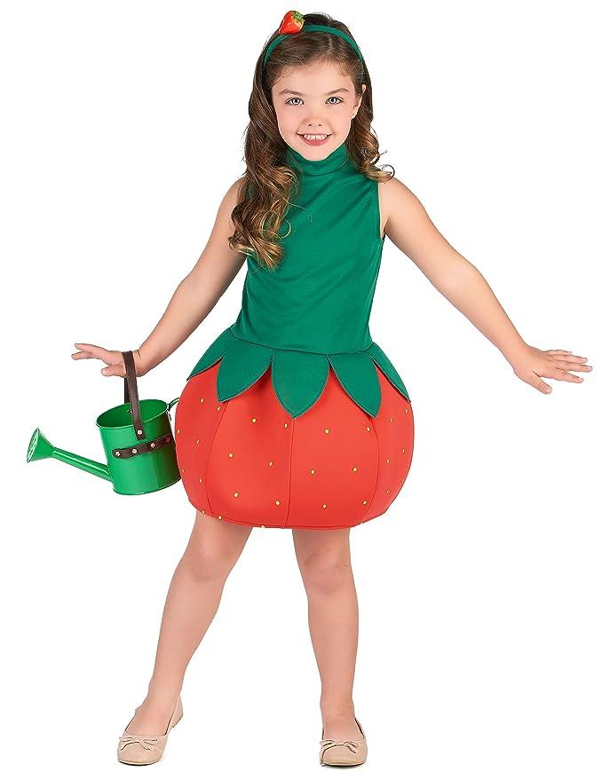 Generique - Disfraz Vestido Fresa niña 7-9 años (M): Amazon.es ...