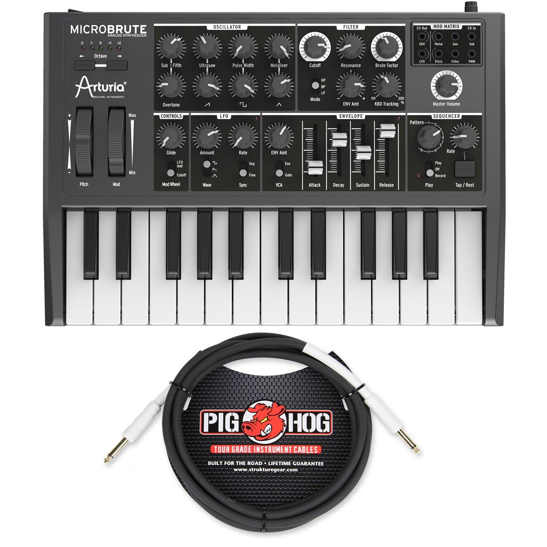 Arturia MICROBRUTE Analog Synthesizer w/ Pig Hog PH10 Instrument Cable - Bundle by Arturia (Image #1)
