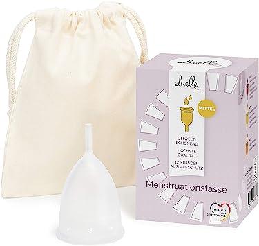Copa Menstrual de Livella - Calidad alemana - Tamaño (S) pequeña - higiene sostenible - alternativa para tampones y toallas sanitarias - silicona ...