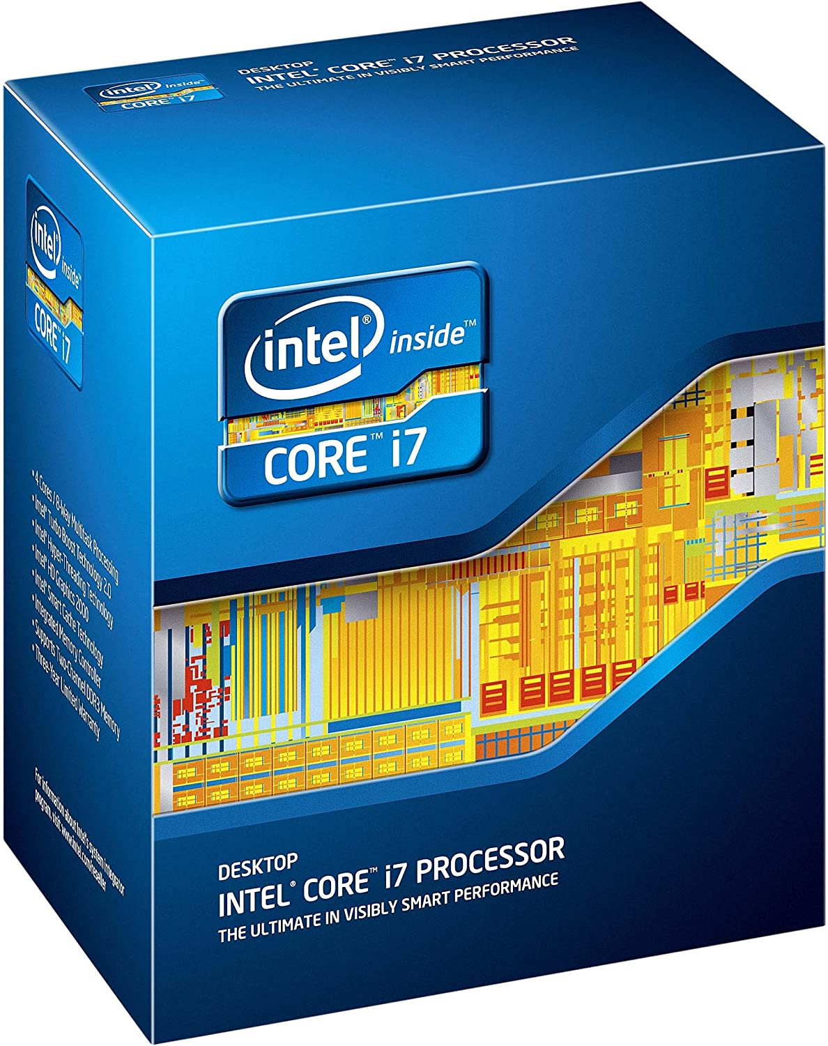 Intel BX80623I72600 Core i7-2600 Quad-Core Processor 3.4 GHz 8 MB Cache LGA 1155