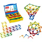 Goobi 180 Piece Construction Set with Instruction Booklet   STEM Learning   Assorted Rainbow colors