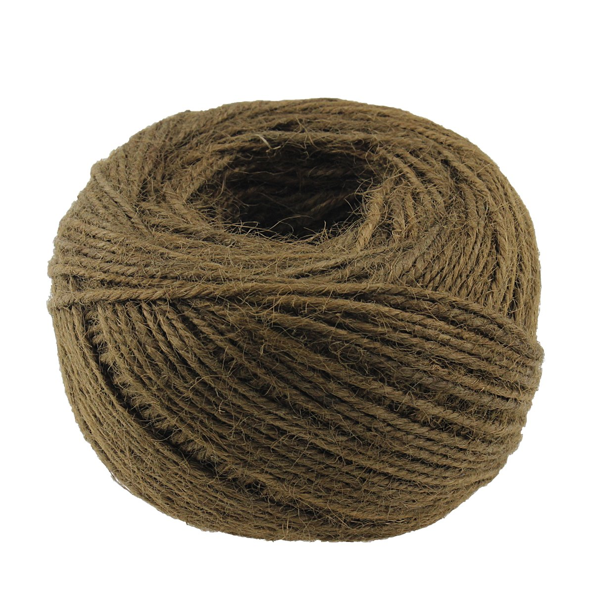 100M/Roll 2mm Natural Jute Twine Rope Hemp Strong Cord Thick Rope String for DIY Craft Home Garden Deco (Yellow) McFan