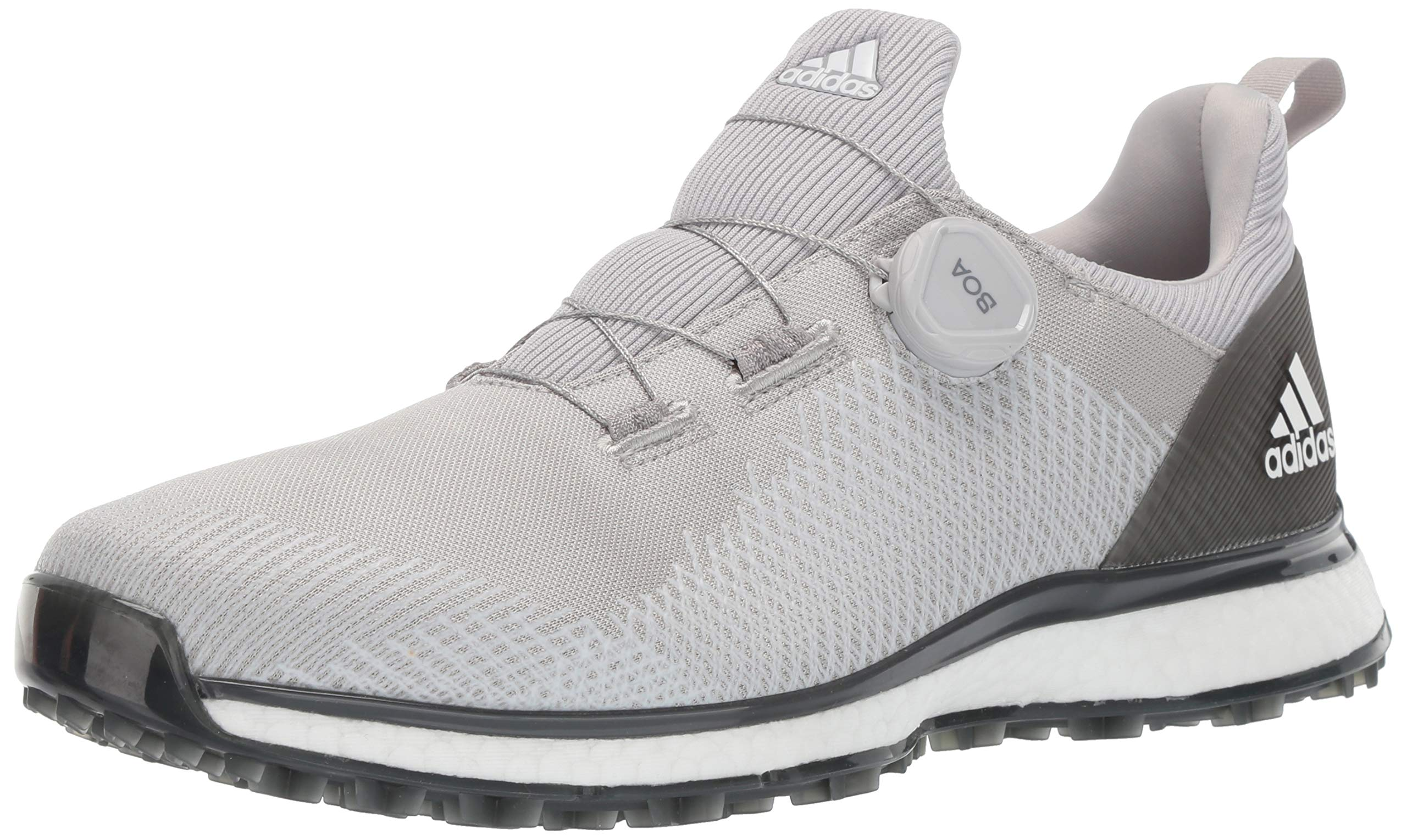 adidas Men's FORGEFIBER BOA Golf Shoe Two/FTWR White/Grey six, 7 M US