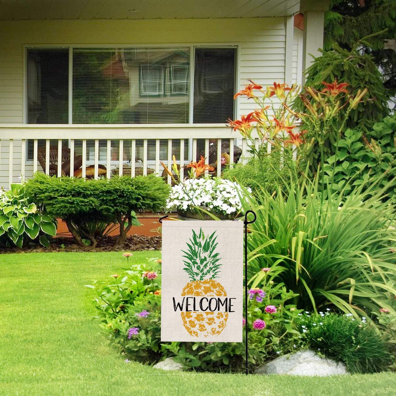Amazon.com: AVOIN - Bandera de jardín de piña de bienvenida ...