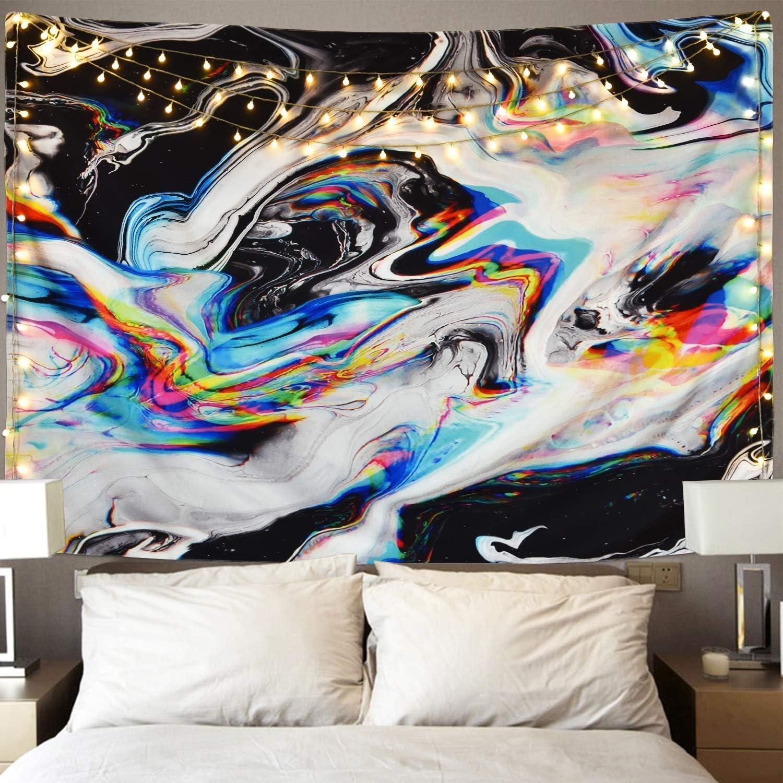 Grande vague Wall Hanging Tapestry psychédélique Chambre À Coucher Décoration