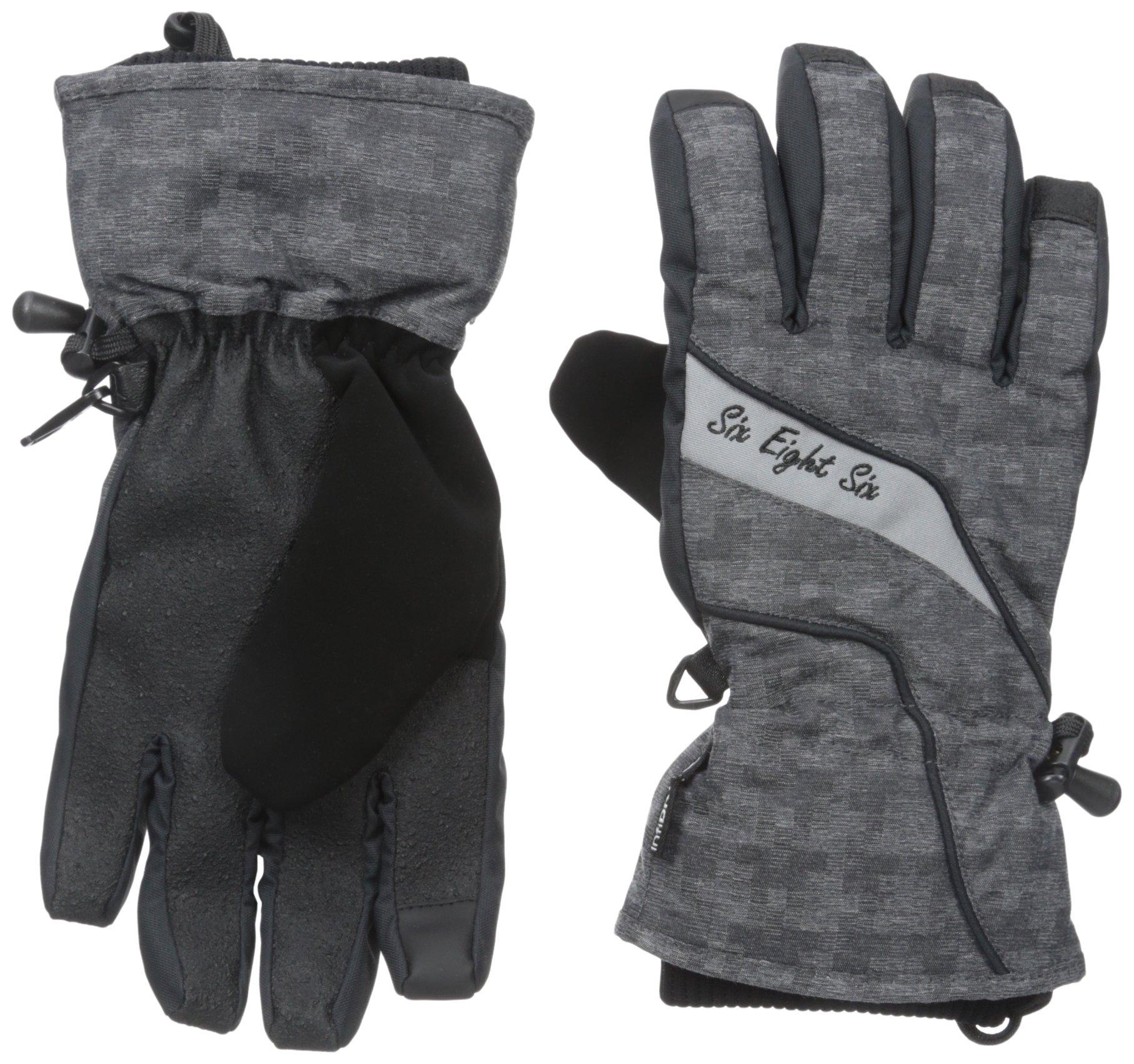 686 Women's Puzzle Glove, Large, Black