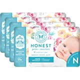 The Honest Company Diapers - Newborn, Size 0 - Rose Blossom Print TrueAbsorb Technology Plant-Derived Materials…
