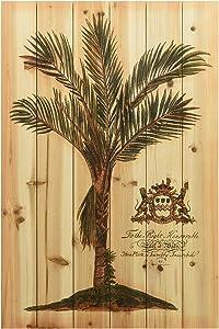 Empire Art Direct British Colonial Palm Arte de Legno Digital Print on Solid Wood Wall Décor, 24 in. x 1.5 in. x 36 in, Multicolor, British Colonial Palm II