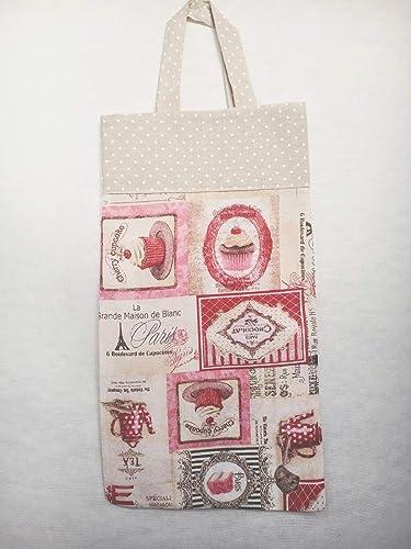 Bolsa de pan de tela pasteles: Amazon.es: Handmade