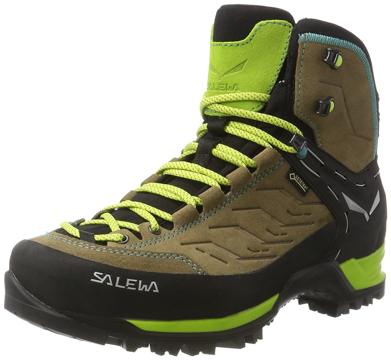 Salewa WS Mtn Trainer Mid GTX, Botas de Senderismo para Mujer 42 EU|Multicolor (Walnut/Swing Green 2720)