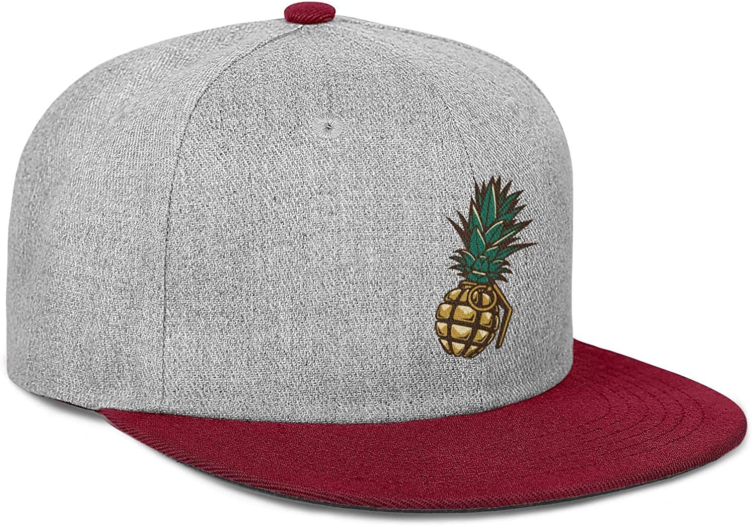 Pineapple Gold with Grenade Shape Men Womens Wool Ball Cap Adjustable Snapback Outdoor Hat