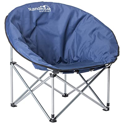 Skandika Mercury - Siège fauteuil de camping XXL pliable - acier - Jusqu' à 110 kg - Bleu