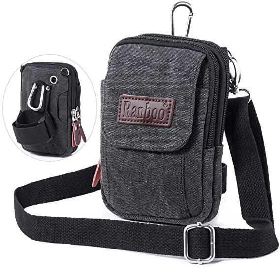 046d4546e935 Amazon.com  Ranboo Mens Small Cellphone Crossbody Shoulder Bag ...
