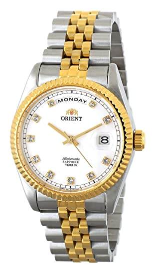 Orient Oyster Classic automático Sapphire 2 tono oro reloj ev0j002 W: Amazon.es: Relojes