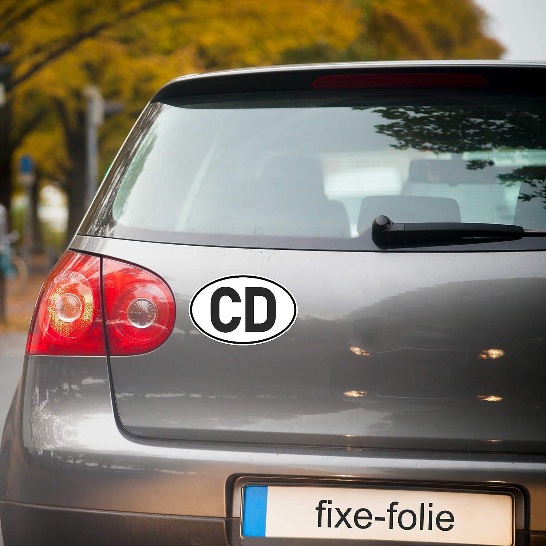 Generisch Aufkleber Cd Diplomatenkennzeichen Für Diplomatische Fahrzeuge Diplomat Pkw Auto Sticker Autoaufkleber Auto