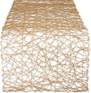 DII Woven Paper Decorative Table Runner for Holidays, Parties, and Everyday Décor (14x72) Taupe