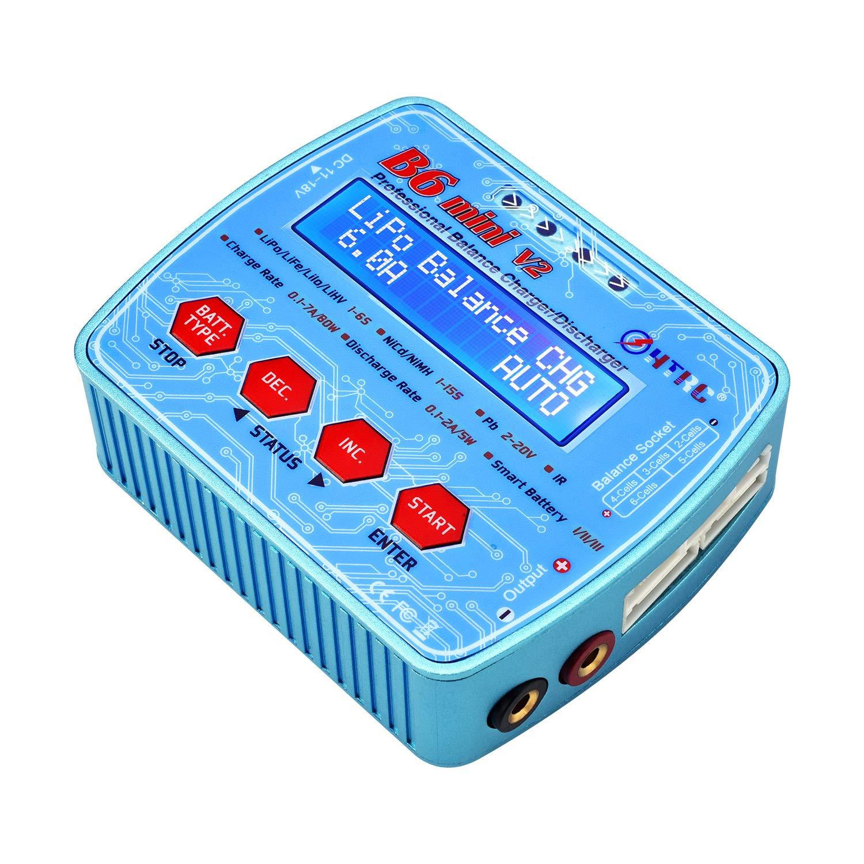 HTRC 1-6S LiPo Charger AC DC Dual Power 80W7A Digital RC Balance Discharger for Li-ion Life NiCd NiMH LiHV PB Smart Battery B6Mini V2