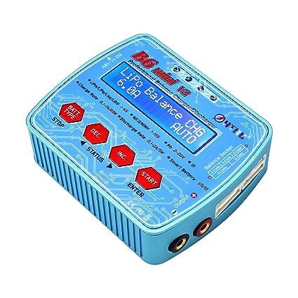 LiPo Cargador/descargador de equilibrio multifunción LiPo para LiPo Lilon Life NiCd NiMh Pb RC Batería B6 MiniV2 Azul