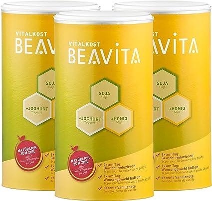 BEAVITA Vitalkost sabor vainilla | Juego de 3x 500g (27 porciones) | 218 kcal