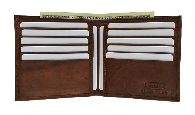 Amazon.com: Office Marshal® portafolios de los hombres piel ...