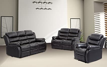 BestMassage Sofa Recliner Sofa Set Reclining Chair Sectional Love Seat For  Living Room Modern Furniture Classic