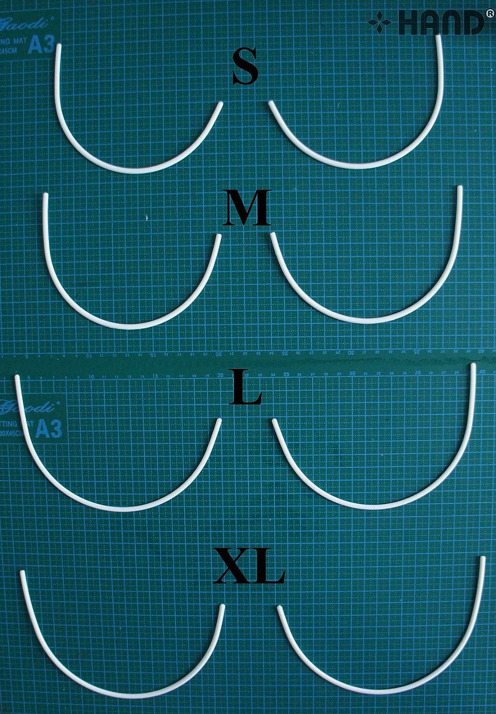 Hand Lot de 3 paires de fils métalliques d'armature de soutien-gorge Taille XL
