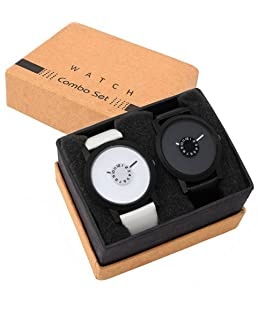 SRK Enterprise Analogue Black and White Men's Watch - LR_025_026 - Pack of 2