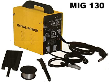 Soldador hilo continuo sin gas MIG 130 A 230V ROYAL POWER: Amazon.es ...