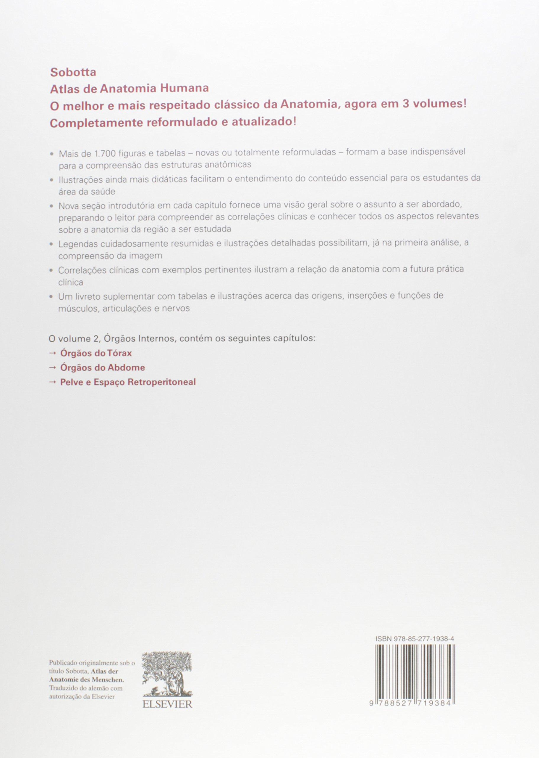 Sobotta. Atlas de Anatomia Humana - 3 Volumes (Em Portuguese do ...
