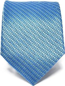Oxford Collection Corbata de hombre Azul a Rayas 100% Seda