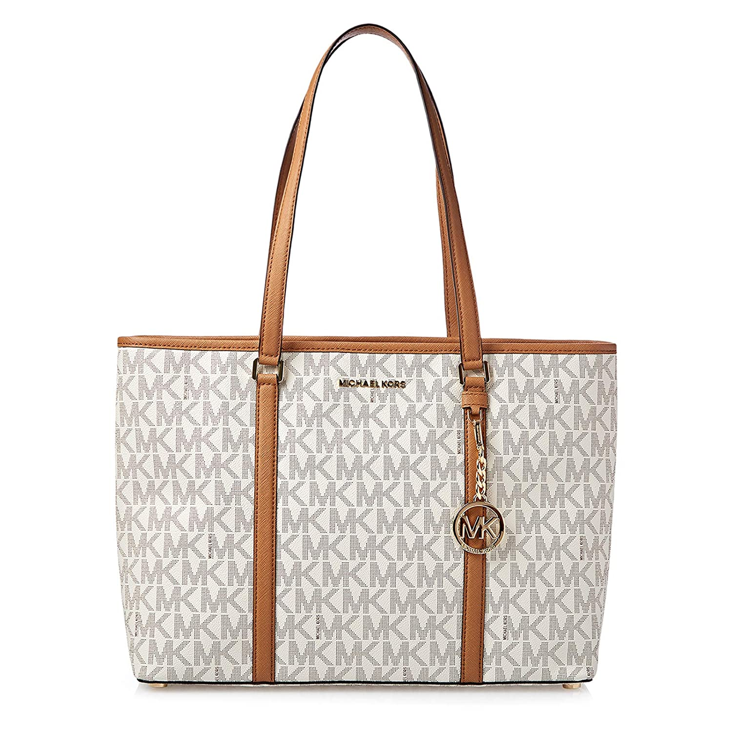 2f601ffd6da0 Michael Kors Large Sady Carryall Shoulder bag (Vanilla Pvc): Handbags:  Amazon.com