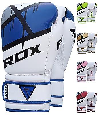 RDX Maya Cuero - Guantes Boxeo Saco Sparring Entrenamiento Mitones Muay Thai Kick Boxing