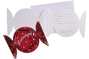 Einladungskarten Klappkarten Geburtstag Party Mit Innentext Format Bonbon  41 7391