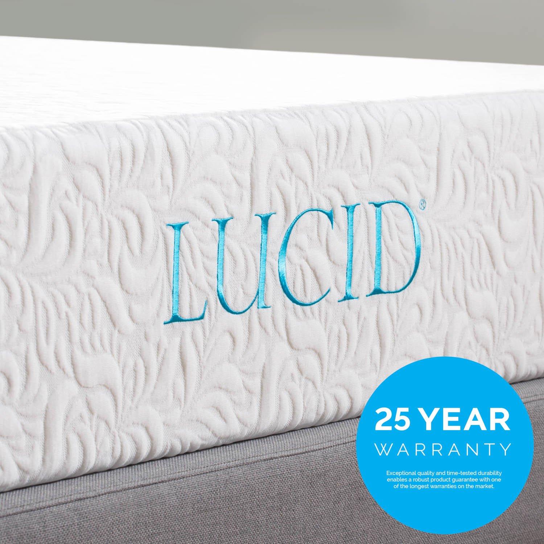 Lucid 10 Inch Latex Foam Mattress Ventilated Latex and CertiPUR