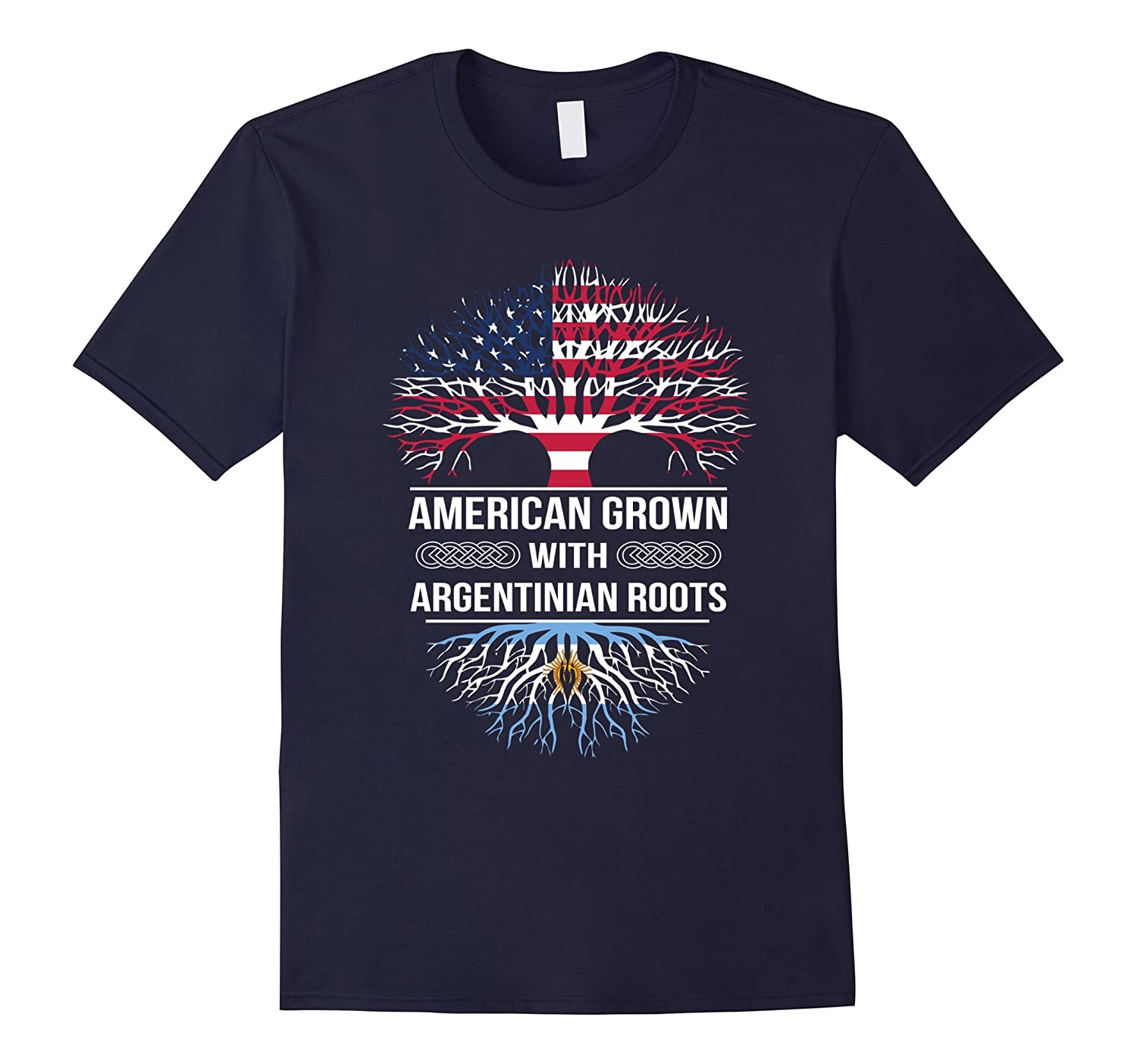 American Grown with Argentinian Roots tshirt-TH
