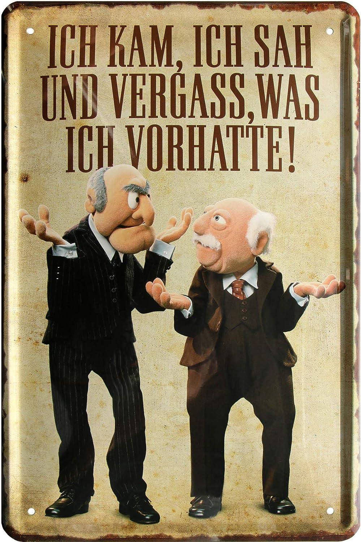 The Muppets Ich kam sah und vergaß was ich wollte 20x30 Spruch Blechschild 601