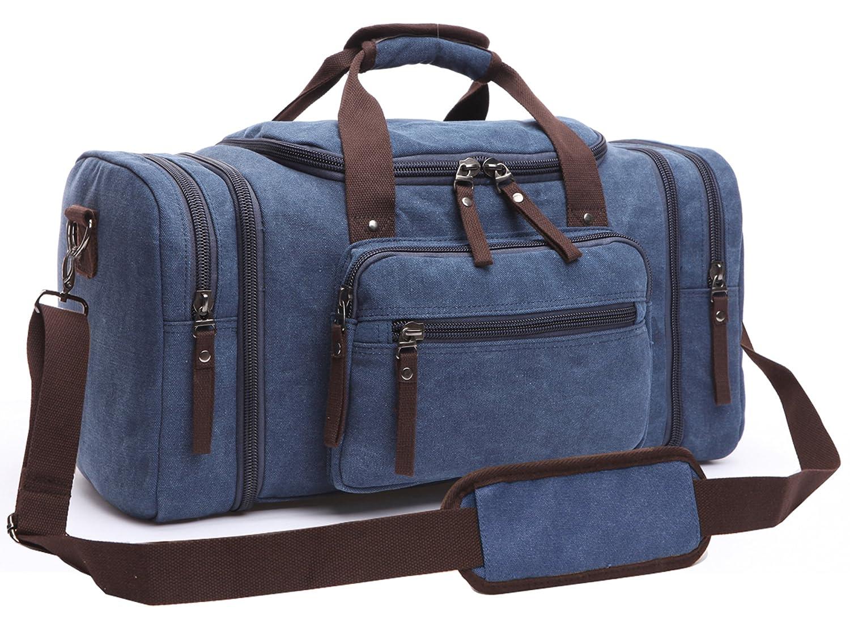 Aidonger Unisex lienzo bolso bolsa de hombro bolsa de viaje Azul oscuro