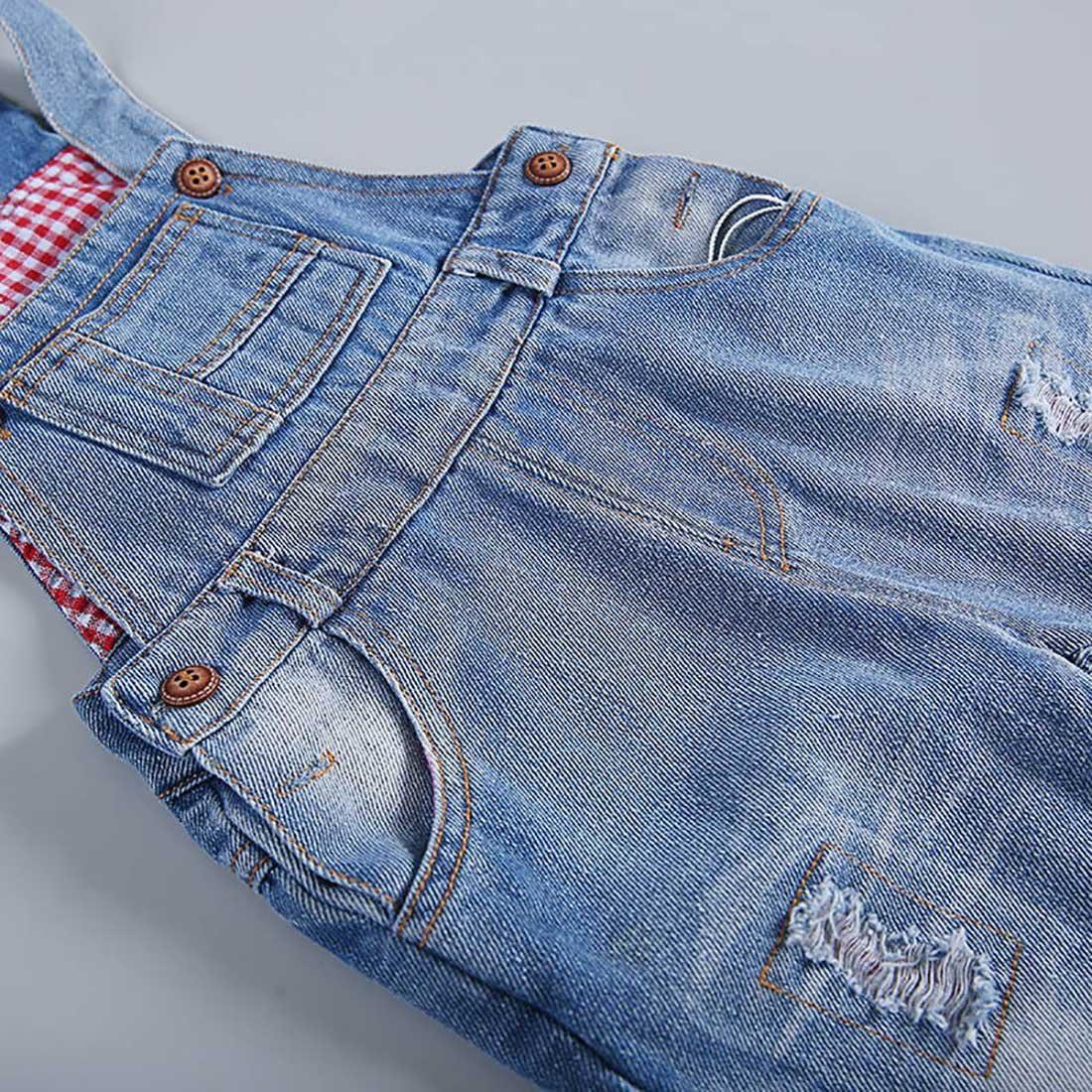 FEOYA Salopettes en Denim B/éb/é Fille Gar/çon Pantalons Combinaison Enfant pour Printemps Et/é Automne 6-36 Mois