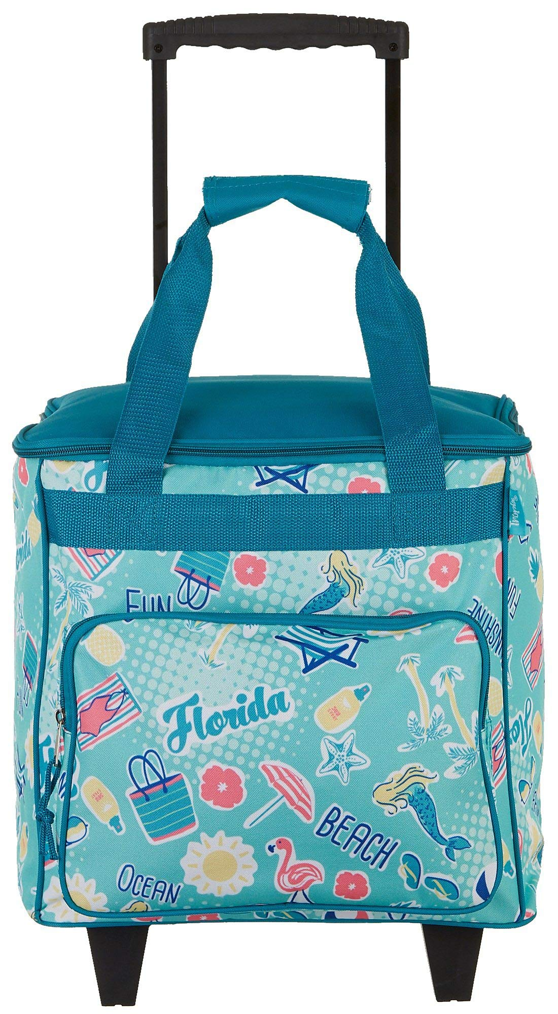 Tropix Florida Icons Rolling Cooler One Size Blue/Pink/Yellow