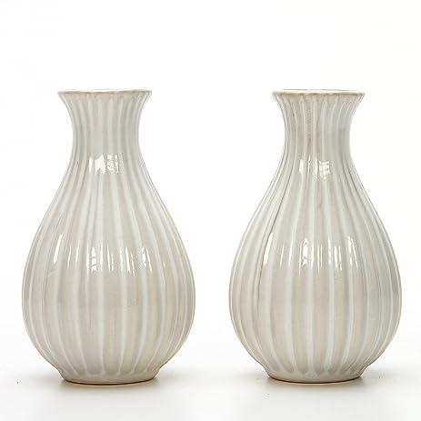 Amazon Hosley Set Of 2 Cream Ceramic Reed Diffuser Bottle Vase